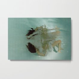 Octopussy Falling Metal Print