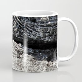 Watercolor Rock, Coral Fragments 02, Bonaire, Dutch West Indies Coffee Mug