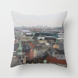 View from the Round Tower Copenhagen 2 Throw Pillow