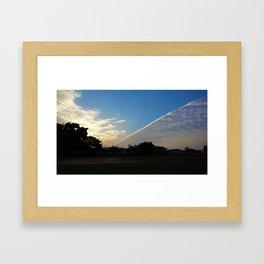drama in the sky Framed Art Print