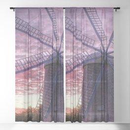 Rhode Island Sunset Sheer Curtain