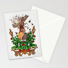 Woodland Rabbit King Stationery Cards