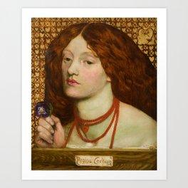 "Dante Gabriel Rossetti ""Regina Cordium"" Art Print"