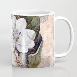 Vintage White Magnolia  Coffee Mug