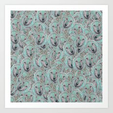 Power Wolf Pattern Art Print
