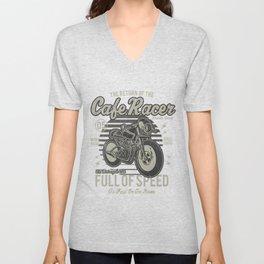 Caferacer Motorcycle Vintage Poster Unisex V-Neck