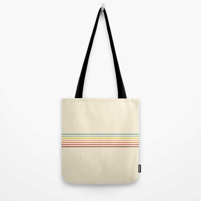 Yoshikage - Classic Fine Line Retro Stripes Tote Bag