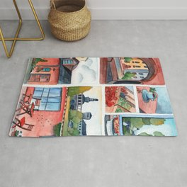 Collection of dreamy street corners Rug