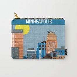 Minneapolis, Minnesota - Skyline Illustration by Loose Petals Carry-All Pouch