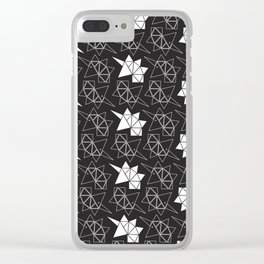 Origami of Unicorn Clear iPhone Case