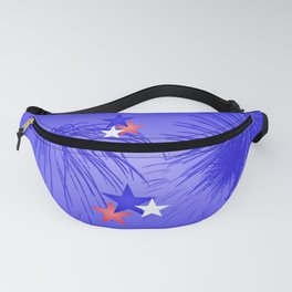 Red, white and true blue Fanny Pack