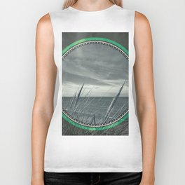 Before the storm - green circle Biker Tank