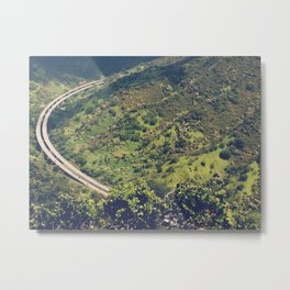 Hawaiian Landscape And H3 View Metal Print