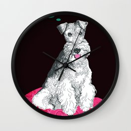 Glasha the fox terier Wall Clock