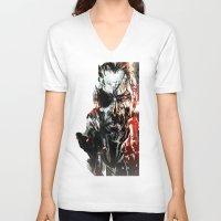 metal gear V-neck T-shirts featuring Metal Gear Solid V by Hisham Al Riyami