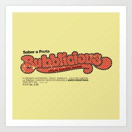 Bubblicious Art Print