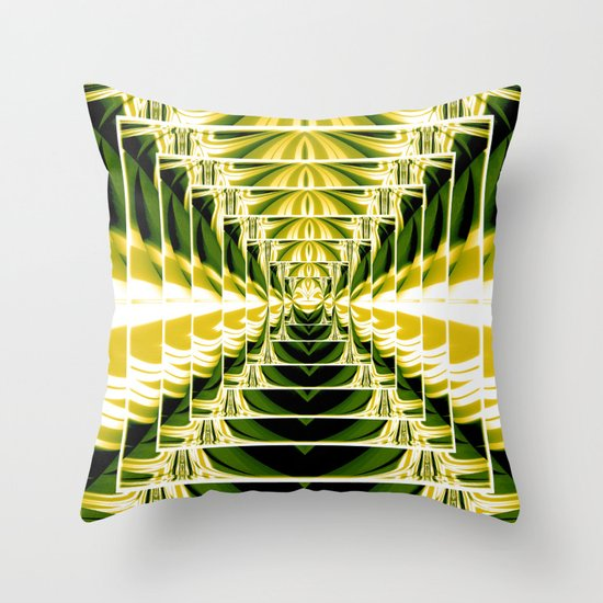 Abstract.Green,Yellow,Black,White,Lime. Throw Pillow