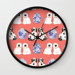 Staffordshire Dogs + Ginger Jars No. 3 Wall Clock
