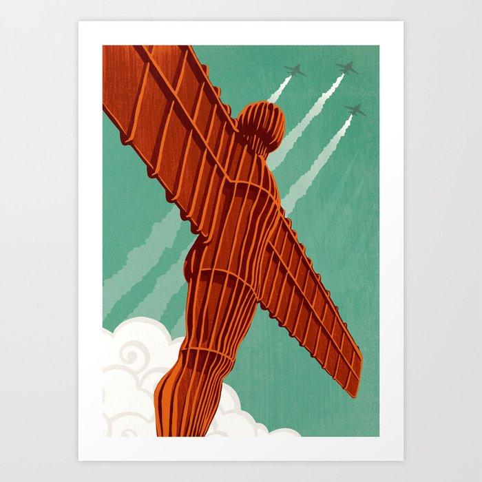 Angel of the North Art Print