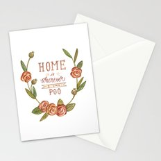 Home is Wherever I Can Poo Stationery Cards