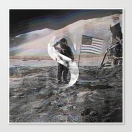 S is for Space. Canvas Print