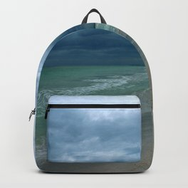 Moody  Sky Over Florida Beach Backpack