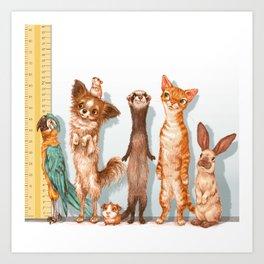 Pets Lineup Art Print