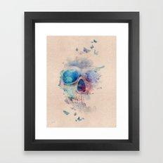 Skull Rainbow Framed Art Print