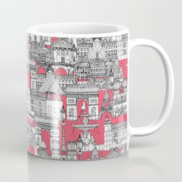 Paris toile strawberry pink Coffee Mug