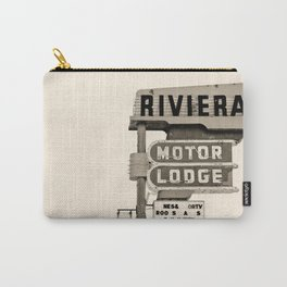 Vintage Neon Sign - Riviera Motor Lodge Carry-All Pouch