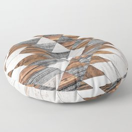 Urban Tribal Pattern No.12 - Aztec - Wood Floor Pillow