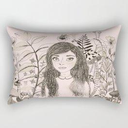 Content freckle. By: Ash Kinslow Rectangular Pillow