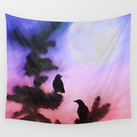 literary Wall Tapestries featuring Blackbirds of the Night by ThePhotoGuyDarren