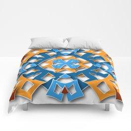 aztec mandala sun blue Comforters