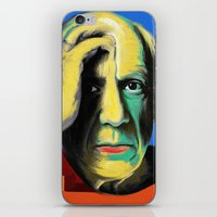 pablo picasso iPhone & iPod Skins featuring Pablo by Zmudart