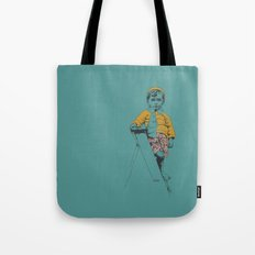 the ladder Boy Tote Bag