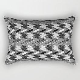 Geometric black, white pattern. Rectangular Pillow