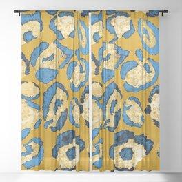 Watercolor leopard skin hand painted. Beautiful animal print pattern Sheer Curtain