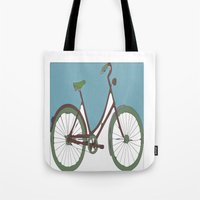 bicycle Tote Bags featuring Bicycle by March Hunger