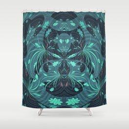 Fireworks on Venus Floral Mandala Shower Curtain