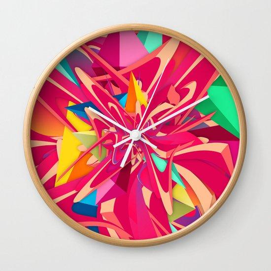 Explosion #1 Wall Clock
