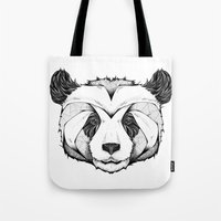 andreas preis Tote Bags featuring Panda by Andreas Preis