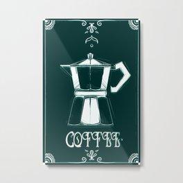 Coffee Moka Metal Print