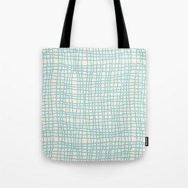 Blue Scribbles Pattern 06 Tote Bag
