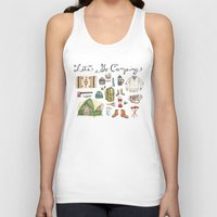 backpack Tank Tops featuring Let's Go Camping by Brooke Weeber