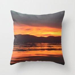 Spinal Sunset Throw Pillow