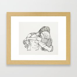 Can you just come here? Framed Art Print