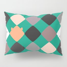 Turquoise touch of Geometric Rebelion Pillow Sham