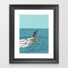 Surf Series   Slipnslide Framed Art Print