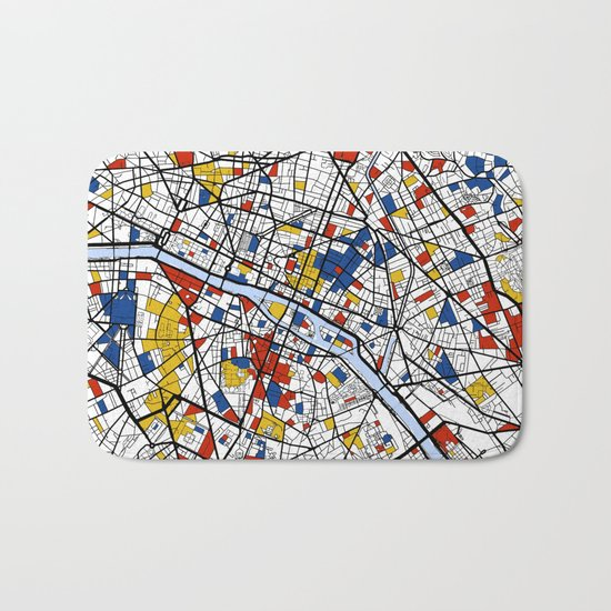 Paris Mondrian Bath Mat